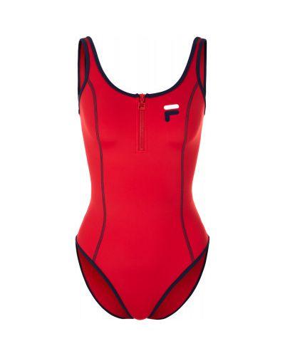 Спортивный купальник для бассейна красный Fila