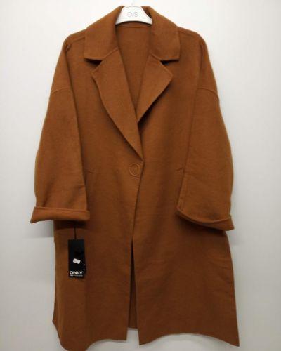 Пальто оверсайз - коричневое Only