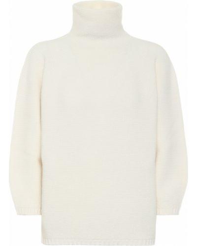 Белый шерстяной свитер Max Mara
