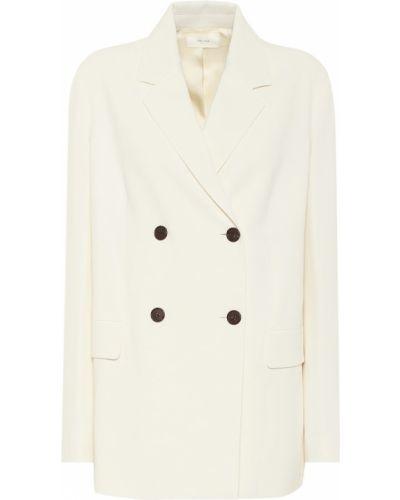 Белый пиджак из вискозы стрейч The Row