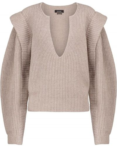 Бежевый шерстяной свитер Isabel Marant