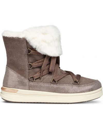 Ботинки на шнуровке коричневый Geox