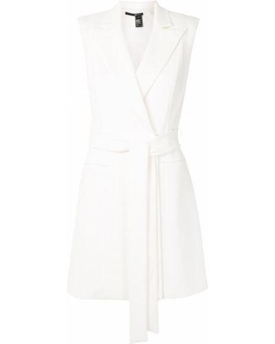 Прямое белое платье мини с поясом Jay Godfrey