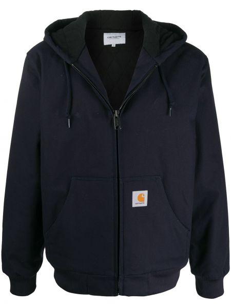 Синяя куртка с нашивками на молнии Carhartt Wip