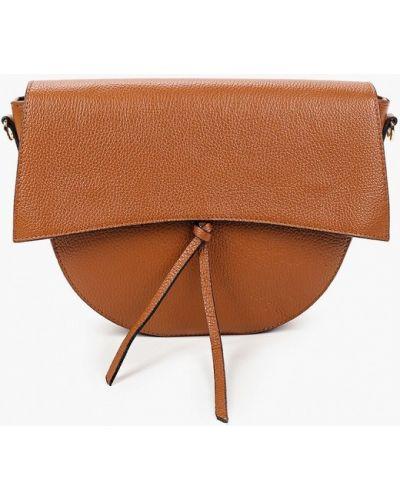 Коричневая сумка через плечо из натуральной кожи Wojas
