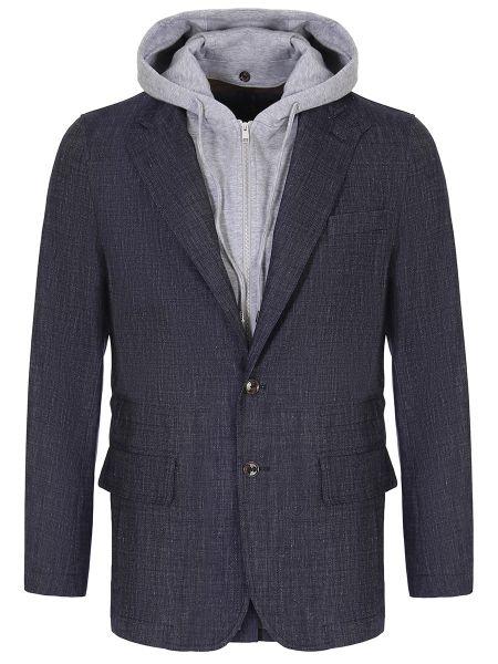 Пиджак с капюшоном на пуговицах с лацканами с воротником Montecore