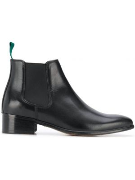 Черные сапоги на каблуке Paul Smith