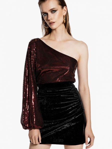 Блузка с длинным рукавом бордовый красная Ivyrevel