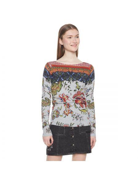 Пуловер с рисунком длинный Desigual