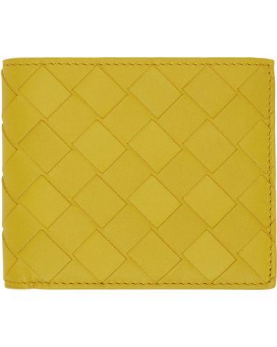 Żółty portfel skórzany Bottega Veneta