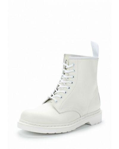 Кожаные ботинки осенние белые Dr Martens