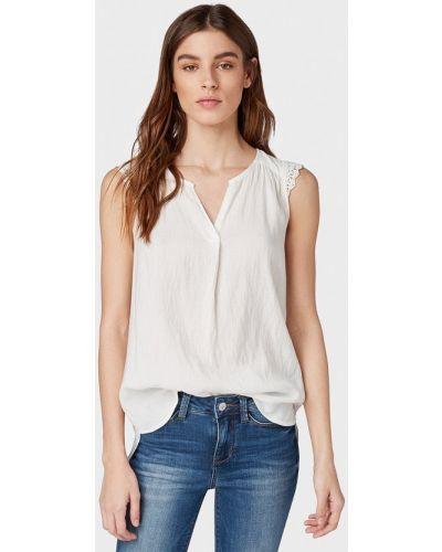 Блузка без рукавов белая весенний Tom Tailor Denim