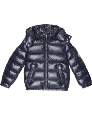 Niebieski płaszcz Moncler Enfant