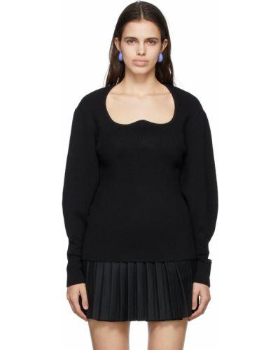 Czarny sweter wełniany Pushbutton