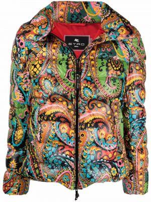 Дутая куртка с капюшоном с принтом классическая Etro