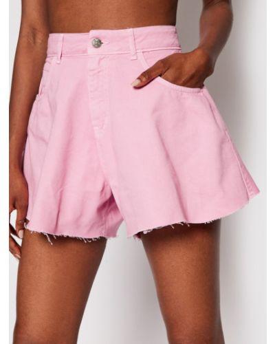 Różowe szorty jeansowe Kontatto