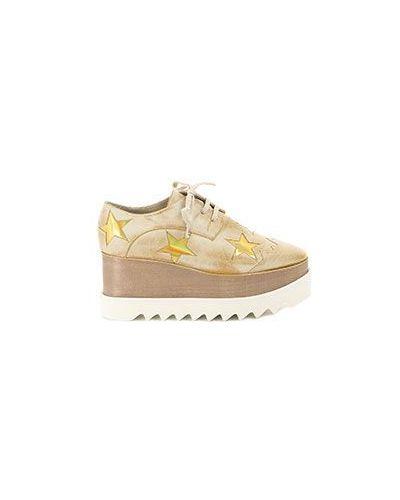 Коричневые кожаные ботинки Stella Mccartney