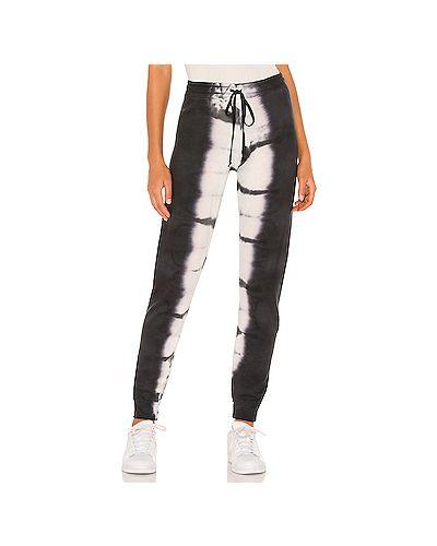 Белые махровые брюки с поясом на шнурках Michael Lauren