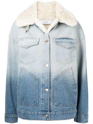 Джинсовая куртка с мехом - синяя Iro