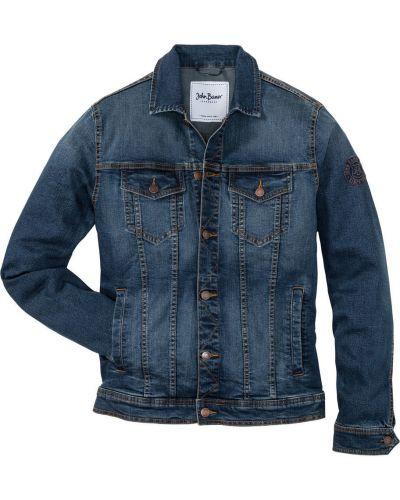 Классическая синяя джинсовая куртка прозрачная Bonprix