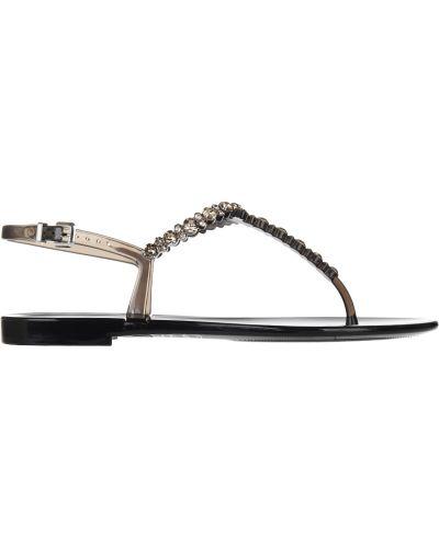 Силиконовые сандалии - черные Menghi