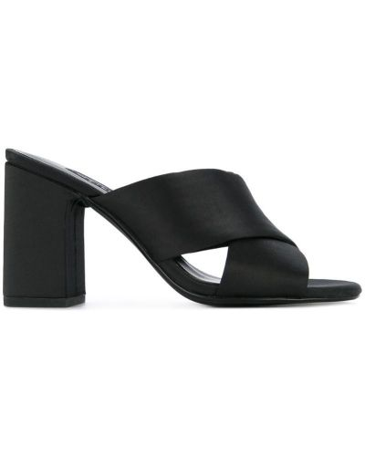 Мюли на каблуке черный Senso
