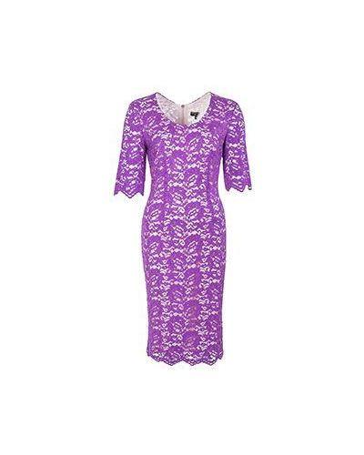 Хлопковое фиолетовое платье Elisa Fanti