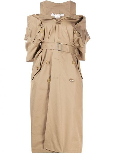 Платье с поясом двубортное с V-образным вырезом Junya Watanabe