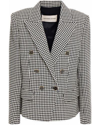 Черный пиджак двубортный с карманами Alexandre Vauthier