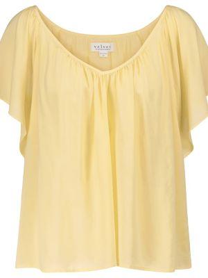 Желтая бархатная лонгслив Velvet