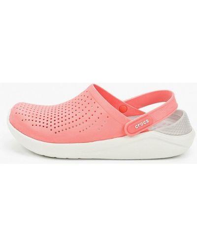 Розовые спортивные сабо Crocs