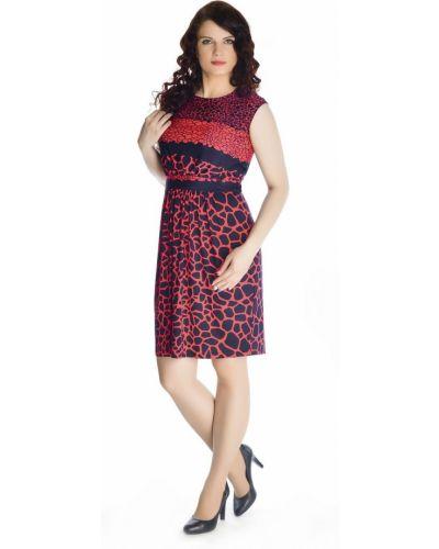 С рукавами модное черное платье Rosa Blanco