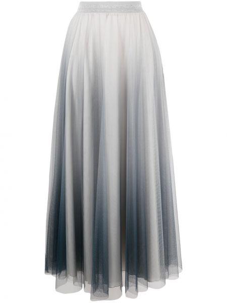С завышенной талией серое платье миди из фатина D.exterior
