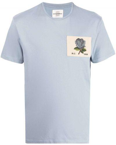 Niebieska t-shirt bawełniana Kent & Curwen