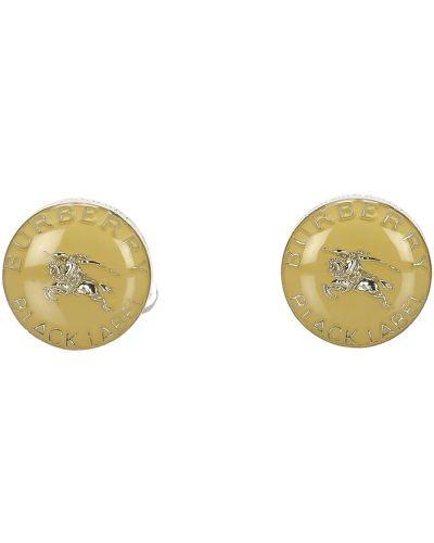 Złote spinki do mankietów vintage Burberry Vintage