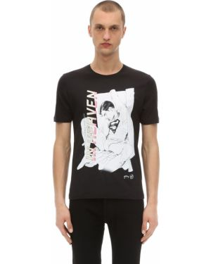 Prążkowany czarny t-shirt bawełniany Passarella Death Squad
