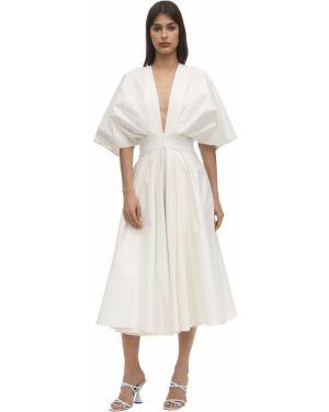 Плиссированное приталенное платье на молнии Anouki
