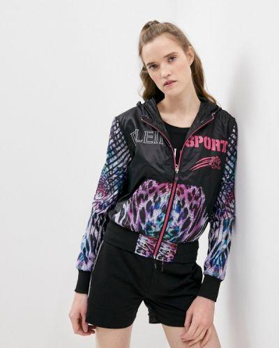 Облегченная черная спортивная куртка Plein Sport
