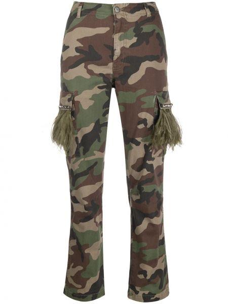 Spodnie z wysokim stanem z kieszeniami elastyczne Parosh