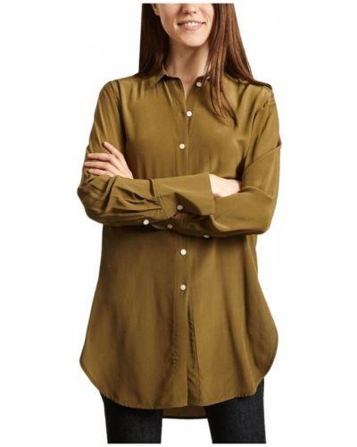 Zielona koszula z jedwabiu By Malene Birger