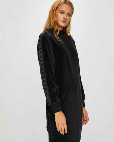 Бархатное платье мини - черное Kappa