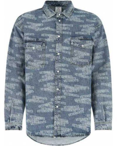 Niebieska koszula Vetements