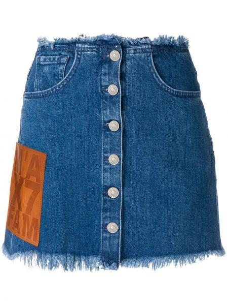 Юбка мини джинсовая с бахромой 7 For All Mankind