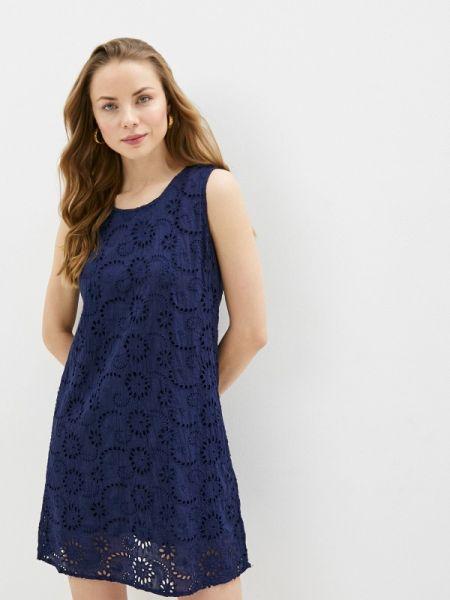 Ватное хлопковое синее платье Fresh Cotton