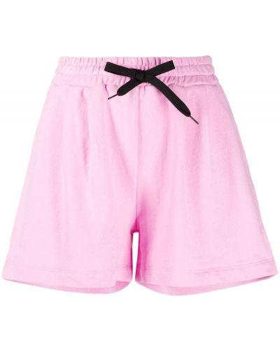 С кулиской розовые хлопковые шорты Pinko