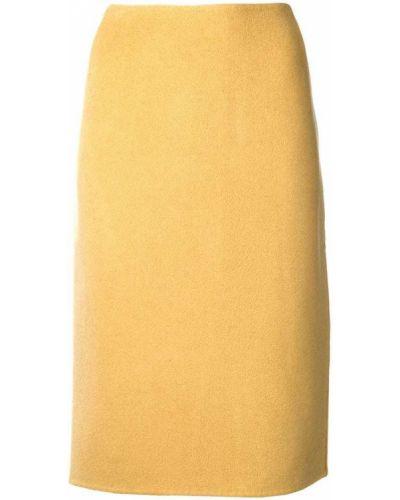 Юбка карандаш винтажная с разрезом сзади Versace Vintage