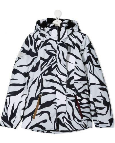 С рукавами белая куртка с капюшоном с нашивками Molo