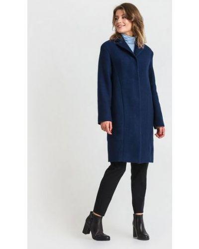 Черное пальто классическое букле с воротником Vovk