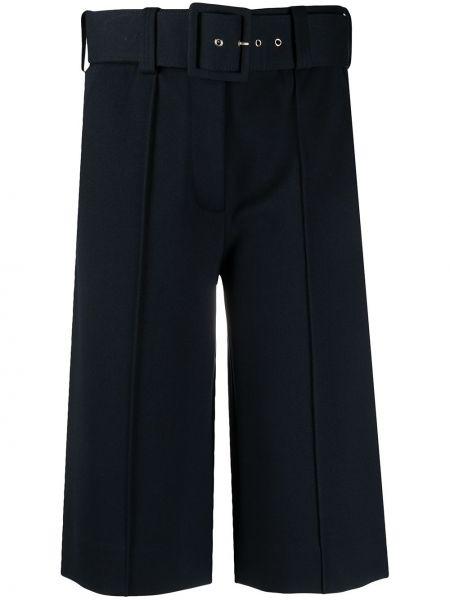 Синие шорты оверсайз с поясом Victoria Victoria Beckham