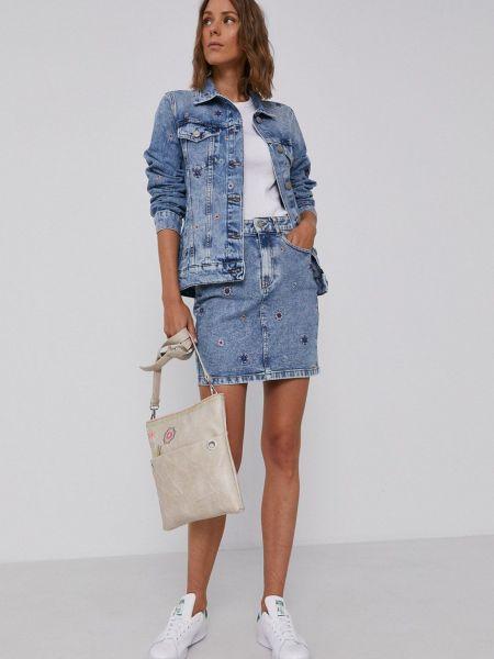 Хлопковая джинсовая куртка Desigual